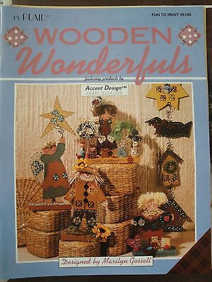 WOODEN WONDERFULS #9186 by Marilyn Gossett Tole Painting 1995  23 pages