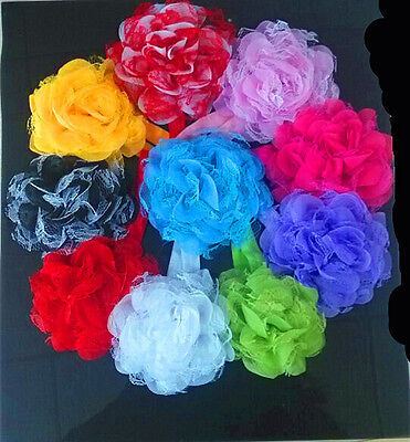 10pcs Flower Baby Toddler Girl Lace Headband Hair Bow Band Accessories