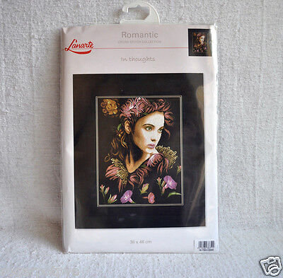 New Lanarte In Thoughts Romance Counted Cross Stitch Kit
