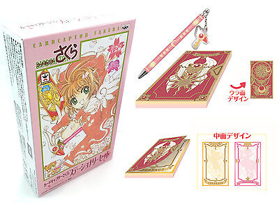 Card Captor Sakura Stationery Set A Notebook Pen Clow Cards Book Banpresto Japan