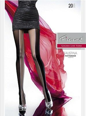 Halloween Costumes Fiore FAUSTINA 20 Den High Contrast 2 Tone Pantyhose Tights