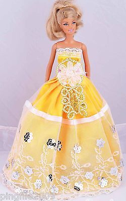 New Handmade Party Dress Clothes Outfits For Barbie Doll #934