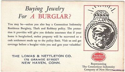 Vintage Advertising Ink Blotter Buying Jewelry for a Burglar