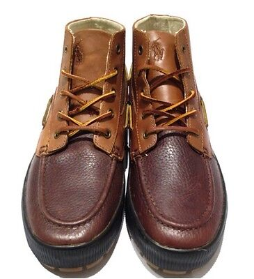 NWB Polo Ralph Lauren Men's DELMONT Brown Leather Chukka Ankle Boots US 9.5M