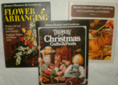 Vtg Lot Better Homes and Gardens Treasury of Christmas Crafts and Foods