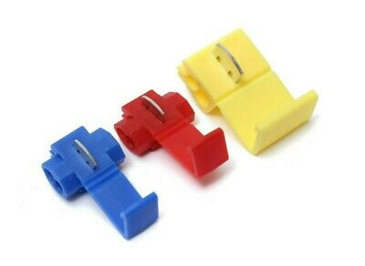 Quick splice scotch lock wire connectors electrical cable red blue yellow