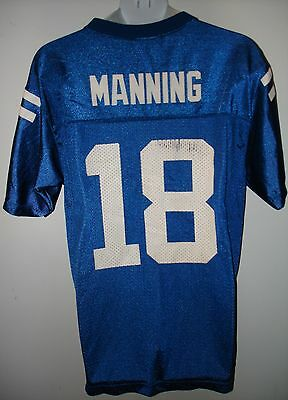 Youth Indianapolis COLTS ~ # 18 MANNING ~  Football Jersey ~ Sz L ( 14 - 16 )