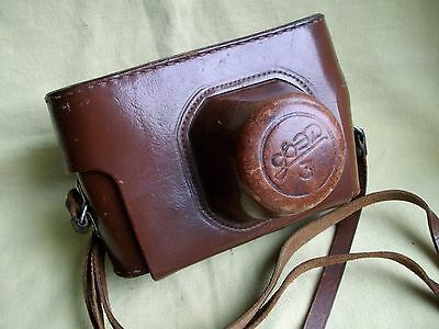 Brown leather CASE for camera FED 3 EARLIEST models