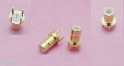 SMB Male Center Solder F PC Board PCB Mount Straight RF Connector Adapter Gold