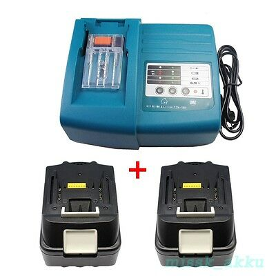 1x Makita DC18RA DC18RC charger and 2x 18V 3.0Ah BL1830 LITHIUM ION battery NEW