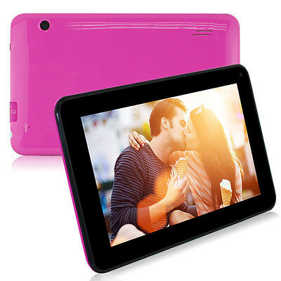 """7"""" Inch 4GB Google Android 4.4 Dual Core Camera Wifi Tablet PC MID Pink"""