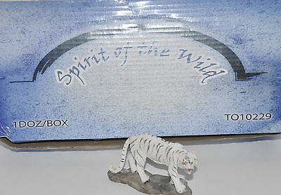 "White Snow Tigers Lot of 12 Mini Statues 3"" x 2"" Display Box Included"
