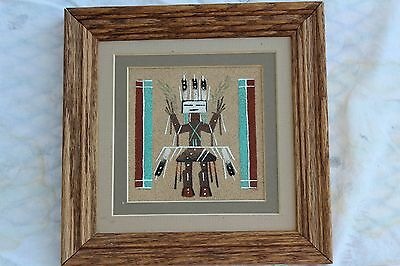 "Navajo Sandpainting ""Healing (Yeii) and Rainbows"" 7"" X 7"""