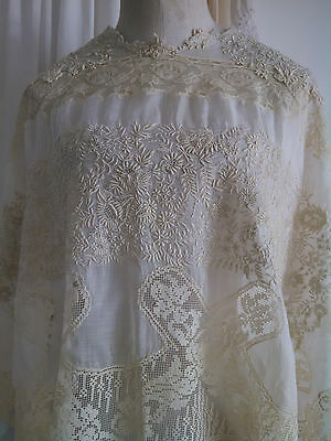 Vintage Antique Whitework Embroidery Panel / Blouse