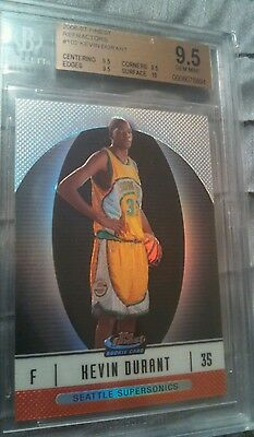 2006-07 Kevin Durant Bgs 9.5 Finest Refractor Rookie #102 BGS 9.5 ( 267 of 399)