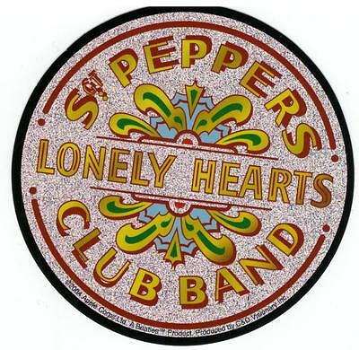 STICKER - The Beatles Sgt Peppers Lonely Hearts Drum Logo Decal Glitter SA01