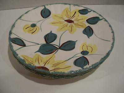 "Blue Ridge Pottery - One Yellow Floral 8"" Plate"