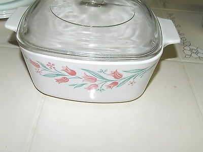 Corning Ware Corelle Rosemarie 1.5 Liter Casserole with glass lid