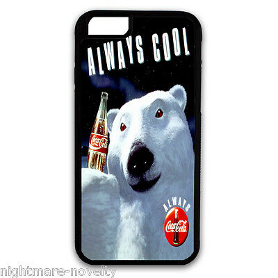 COCA COLA BEAR SAMSUNG GALAXY & iPHONE CELL PHONE HARD CASE COVER