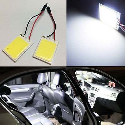 2X White HID 24 COB LED Panel Bulbs For Car Interior Door Trunk Map Dome Lights