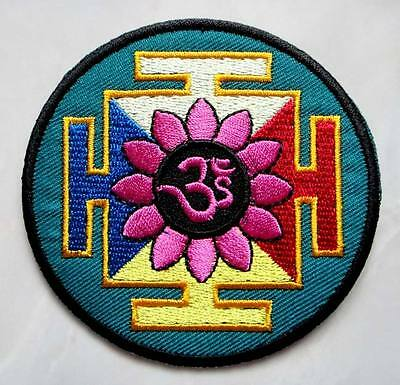 Red Kali Hindu Hinduism Goddess Symbol Embroidered Iron on Patch Free Postage