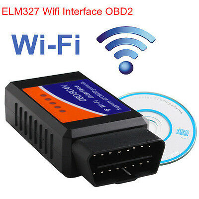 ELM327 WiFi OBD2 OBDII Car Diagnostic Interface Scanner Tool For iPhone ipad PC