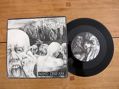 "7"" 45 Ritual ""Mind Disease"" / ""Nine"" RED FLAME RF 712 engineered by Chris Stone"