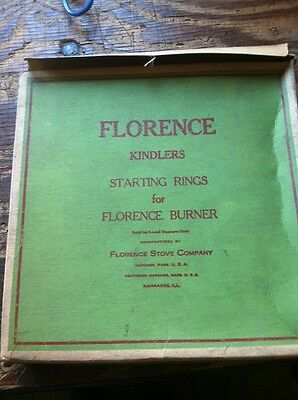 RARE Vintage Genuine Florence Stove Co Kindlers Starting Rings  k-b194 b NEW