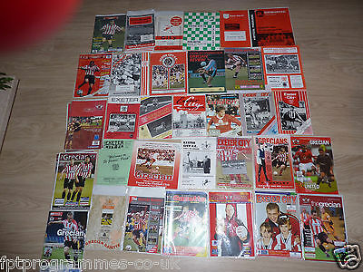 Exeter City Home Programmes 1960/61 to 2008/09