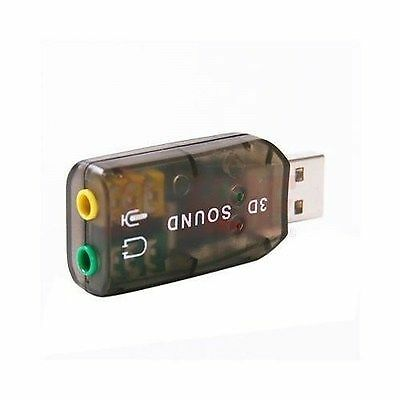 USB External Mic/Speaker 3D 5.1 Channel Audio PC Sound Card Adapter