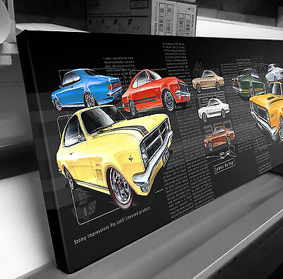 Holden Monaro Hk Hg Ht Gts Picture Canvas Compilation  Stomp Impressions Art