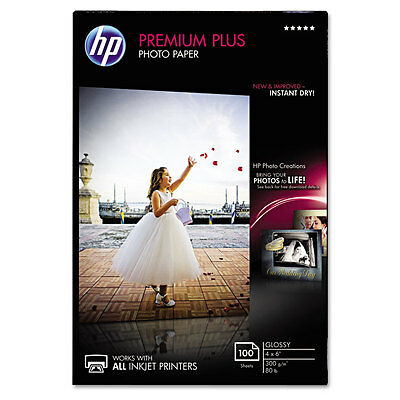 Premium Plus Photo Paper, 80 lbs., Glossy, 4 x 6, 100 Sheets/Pack