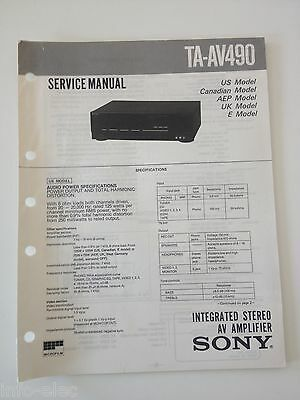 Schema SONY - Service Manual Integrated Stereo AV Amplifier TA-AV490 TAAV490