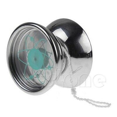 Professional 1 Stainless Steel Bearing String Trick Toy Silver Tone YoYo Ball