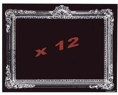 12 x Wholesale Joblot Large Rectangle Sticker Frame Chalkboard  Black