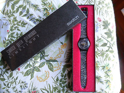 """SWATCH SPECIAL """"LIMELIGHT 2"""" GB 112 M PACK"""" LIMITED EDITION NEW NEVER WORN !!"""