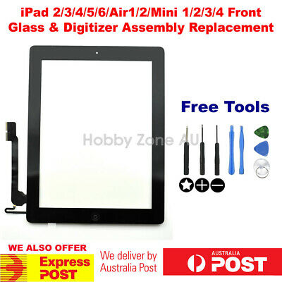 iPad 2/3/4/5/Air2/Mini1/2/3 2017 Digitize Touch Screen Glass Replacement+Tools