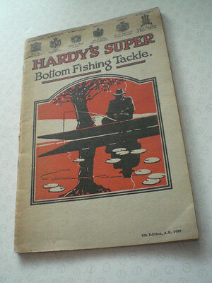 Good Vintage Hardy's Super Bottom Fishing Advertising Tackle Catalogue For 1939