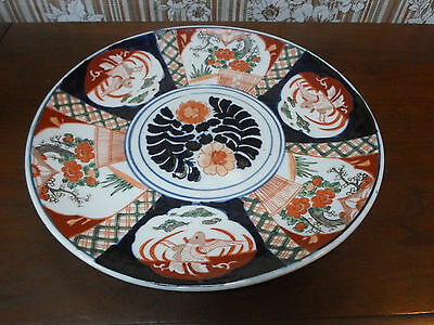 Antique LARGE Japanese IMARI Charger Plate MEIJI Period