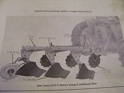 Original John Deere  Parts Manual-F110  F  120  F130  Plows