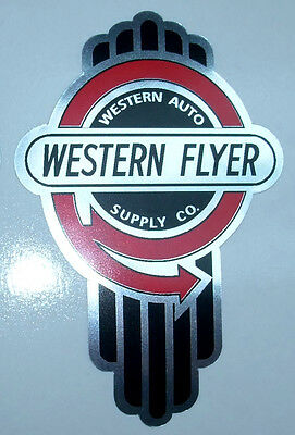 Western Flyer tricycle bicycle badge  decal
