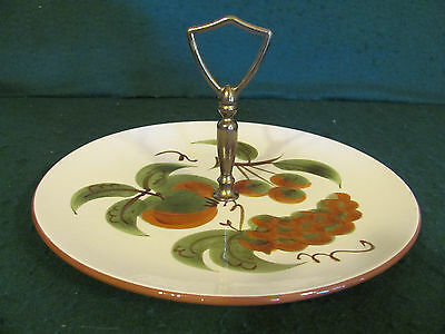 MID CENTURY STANGL POTTERY ORCHARD SONG TIDBIT SERVING PLATE