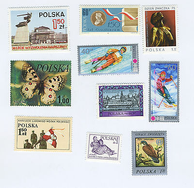 POLAND - Lot of 10 Assorted Stamps - MNH - Lot M#001