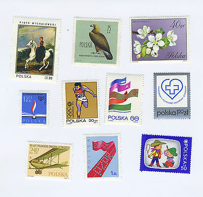 POLAND - Lot of 10 Assorted Stamps - MNH - Lot M#002