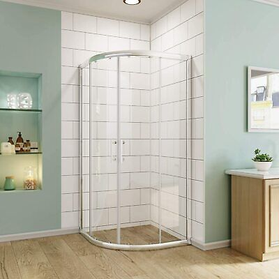 SUNNY SHOWER Semi Frameless Corner Neo Round Sliding Shower Enclosure In  Chrome