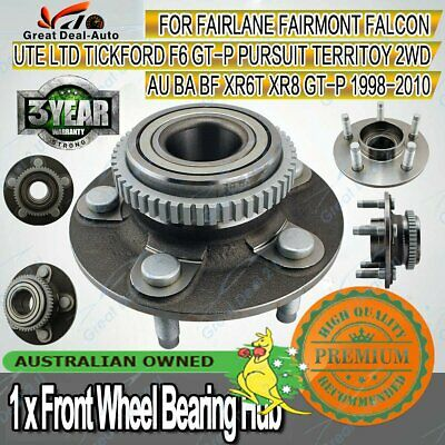 1x Ford Falcon Front Wheel Bearing Hub Fairlane AU BA BF XR6 Territory 2WD ABS