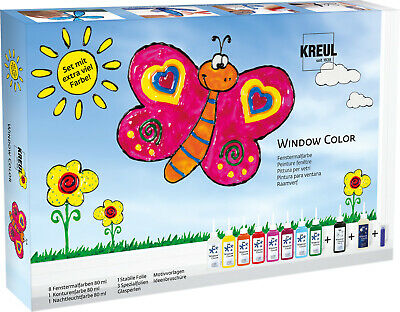 Window Color Glas Design Set extra viel Farbe - Folie, Glasperlen, Fensterfarbe