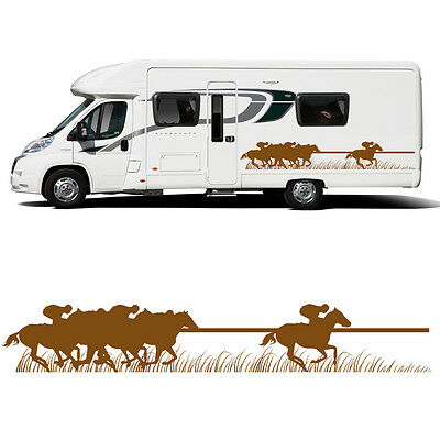Horse racing sticker decal transfer art trailer motorhome graphic eq4