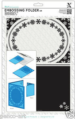 Xcut Xpress A4 embossing folder Snowflake Frame Use A4 or wider cutting machine