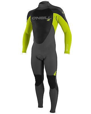 O'Neill Epic Boys 3/2mm Wetsuit in Grey & Lime - On Sale Now